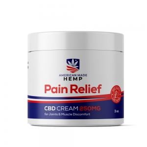 "<span class=""brandname"">American Made Hemp</span> <span class=""prodname"">Relief CBD Cream 250MG</span>"